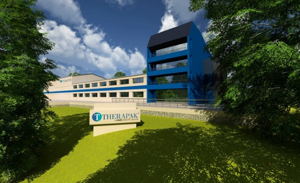 Therapak's Prague Facility, architect's rendering